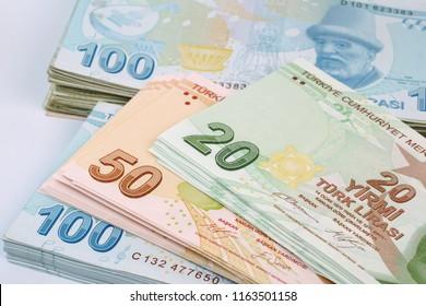 Turkish banknotes. Turkish Lira  TRY or TL