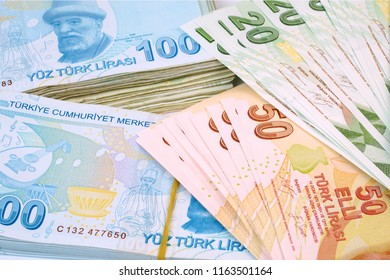 Turkish banknotes. Turkish Lira  TRY or TL