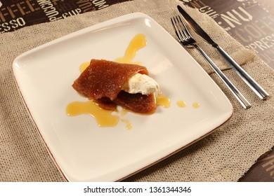 Turkish Bread Dessert with Butter Cream