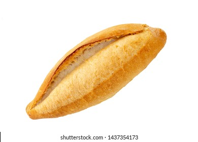 Turkish bread (Ekmek) that is how served in Alanya region. Bread isolated on white background.