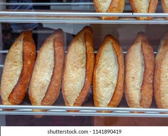 turkish breads on the bread shop