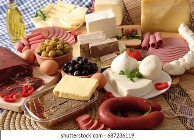 Turkish Breakfast and delicatessen.