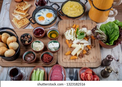 Turkish breakfast delicious rich breakfast.