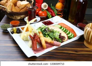 Turkish Breakfast Plate. Brunch,