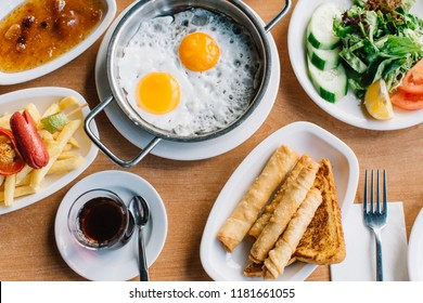Turkish breakfast table and details