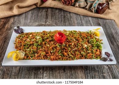 Turkish Bulgur Salad. - Kisir .