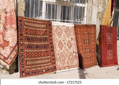 Turkish carpet bazaar in Istanbul