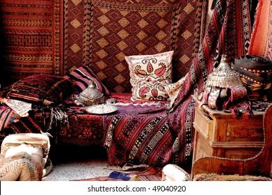 Turkish carpet store, bazaar