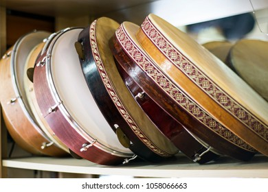 turkish classical music instruments. turkish percussion instruments daf, tambourine an tabor
