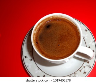Turkish coffee, color background