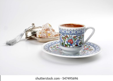 Turkish coffee with Turkish delights