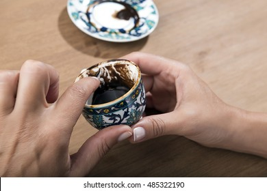 Turkish Coffee Fortune Telling Close up