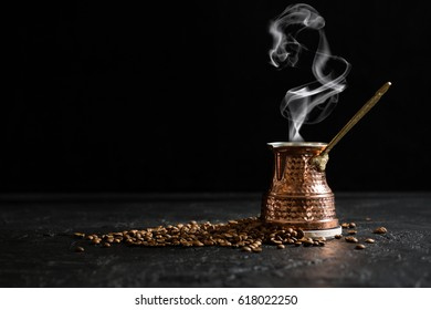 Turkish Coffee Pot and Coffee