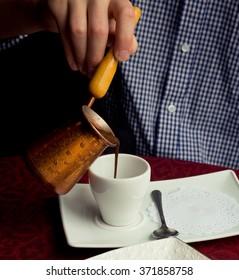 Turkish coffee serve