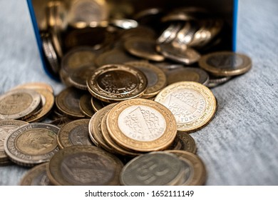 Turkish coin accumulated in piggy bank