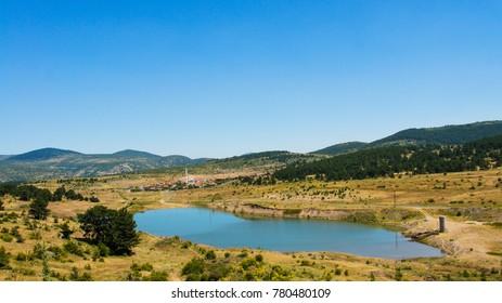 Turkish countryside lake
