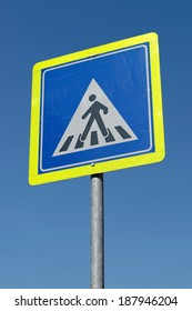 Turkish crosswalk sign, showing pedestrians the place to cross the road, Istanbul / TURKEY
