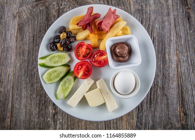 Turkish cuisine breakfast plate