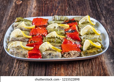 Turkish Cuisine dolma, Cabbage and Stuffed Peppers