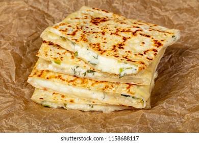 Turkish cuisine - gozleme stuffed pastrie