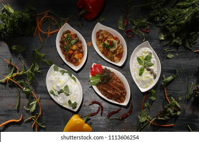Turkish cuisine vegetable cold starters