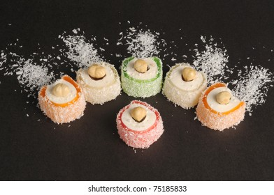 the turkish delight with hazelnut and coconut