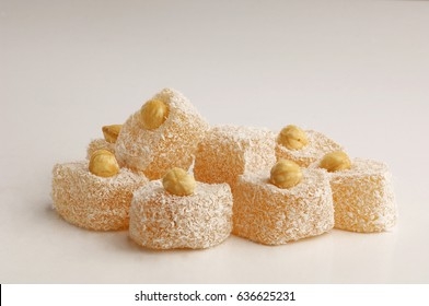 turkish delight isolated on white