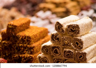 Turkish Delight Lokum Sweet Turkish delight lokum