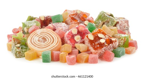 Turkish Delight on a white background