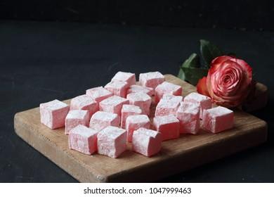 Turkish Delight in rose flavor