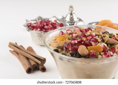 Turkish dessert Ashura, Noah's pudding,