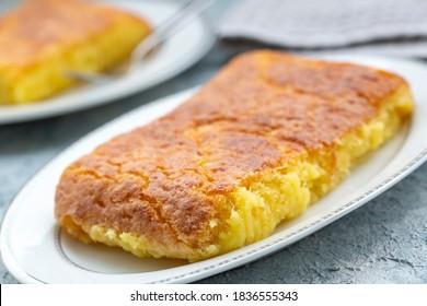 Turkish Dessert Baked Cheese halva / Peynir Helvasi