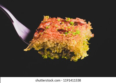 turkish dessert with pistachio