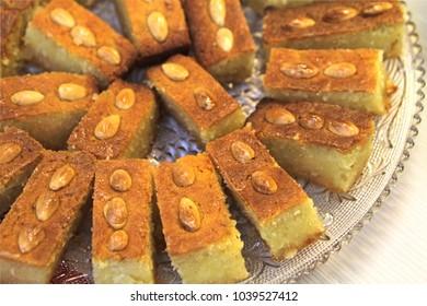 Turkish Dessert Sambali or Damascus Dessert (Sam Tatlisi)