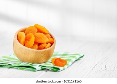 Turkish dried apricots in the bowl. The concept is healthy food, vegetarianism, diet, vitamins.