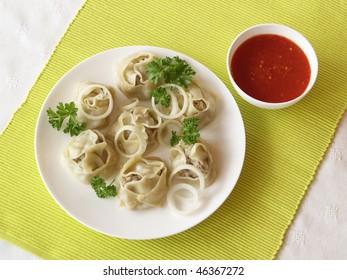 Turkish dumplings.