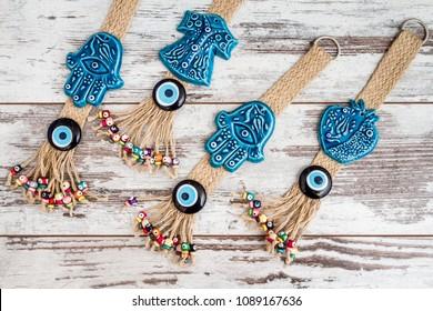 Turkish evil eye beaded door and wall decorations