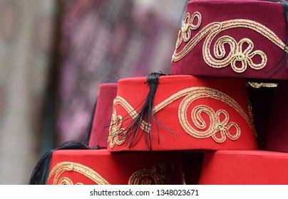 Imágenes, fotos de stock y vectores sobre Red Turkish Hat