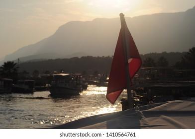 Turkish Flag Akyaka Gokova Mugla Boat Tour
