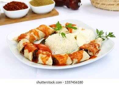 Turkish Food Beyti Kebap