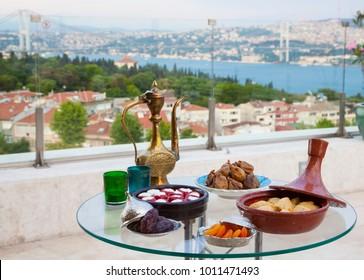 Turkish Food with Bosphorus View