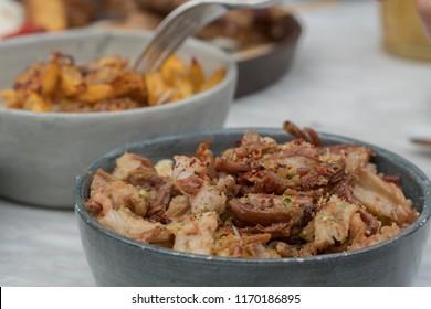 Turkish food kokorec.