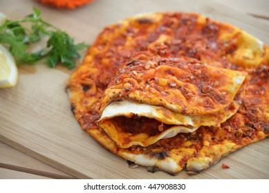 Turkish Food Lahmacun,borek