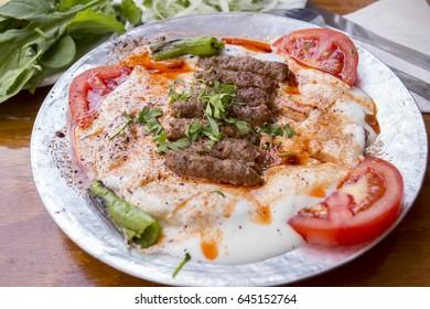 Turkish Food; Manisa Kebab