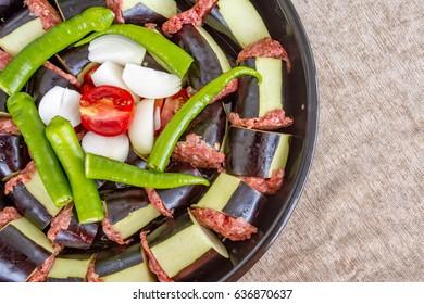 Turkish Food; Patlican Kebab
