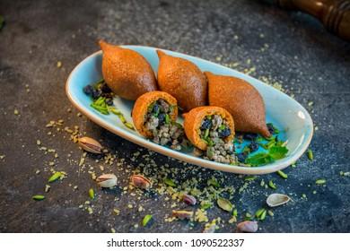 Turkish food, Syrian food, lebanese, Kebbeh kebbe traditional