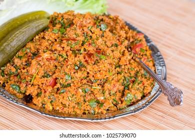 Turkish foods; bulgur salad, kisir (k?s?r)