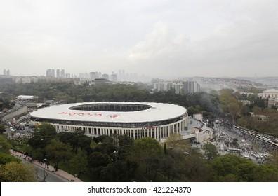 Turkish football club Besiktas's new stadium Vodafone Arena was open 10 April 2016 in Istanbul, Turkey, 10 April 2016.