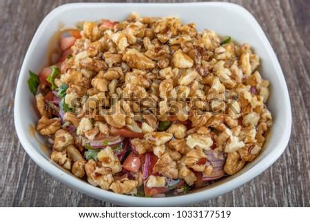 Turkish Gavurdagi Salad Walnut Stock Photo (Edit Now) 1033177519