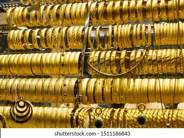 Turkish gold jewelry shop, Turkey, Istanbul
